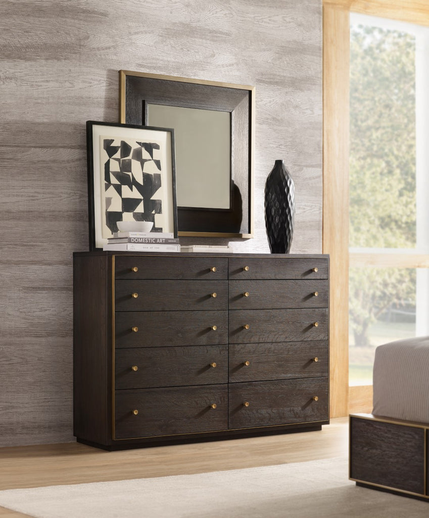 Hooker Furniture Curata Modern-Contemporary Bureau in Rubberwood Solids with White Oak Veneers 1600-90011-DKW