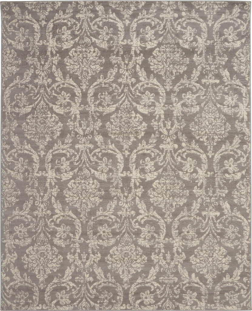 "Jubilant JUB09 Power-loomed 100% Polypropylene Grey 8'6"" x 12' Rectangle Rug"