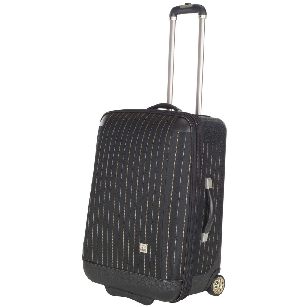 "20"" Oneonta Carry On Black Stripe 100% Polyester LTS1001B-3PC"