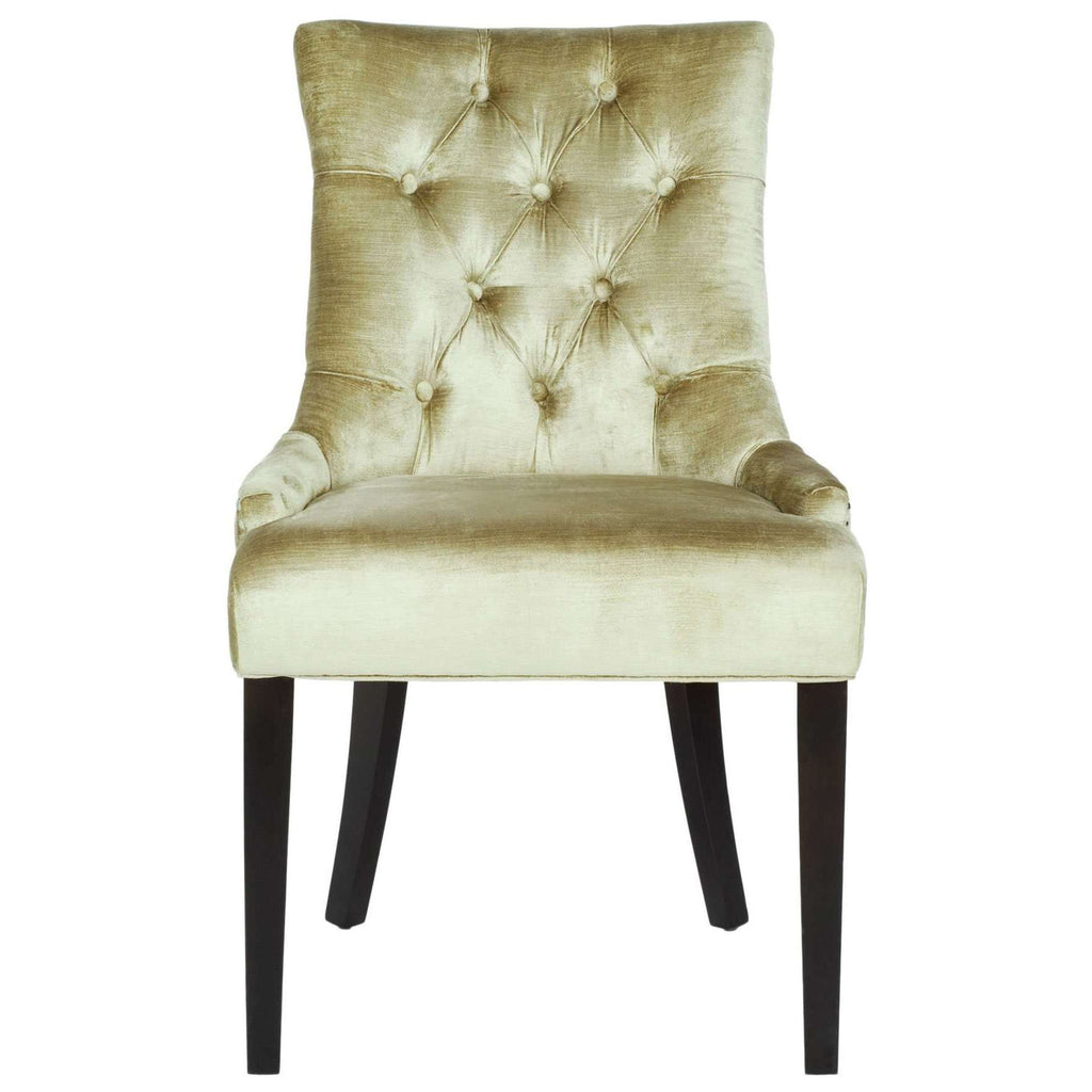 Abby 19''H Tufted Side Chairs Silver Nail Heads - Set of 2