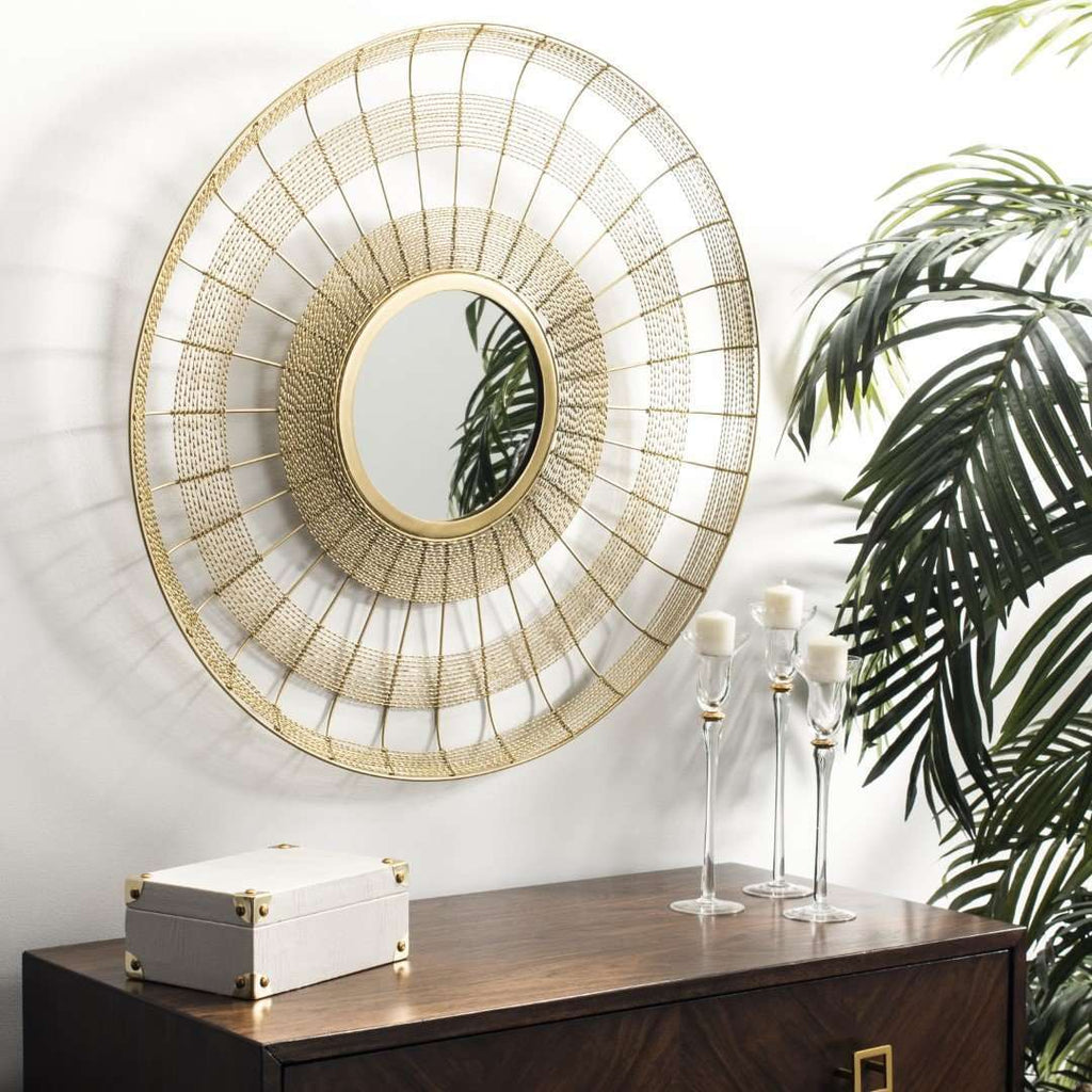 Acton Mirror Brass Iron
