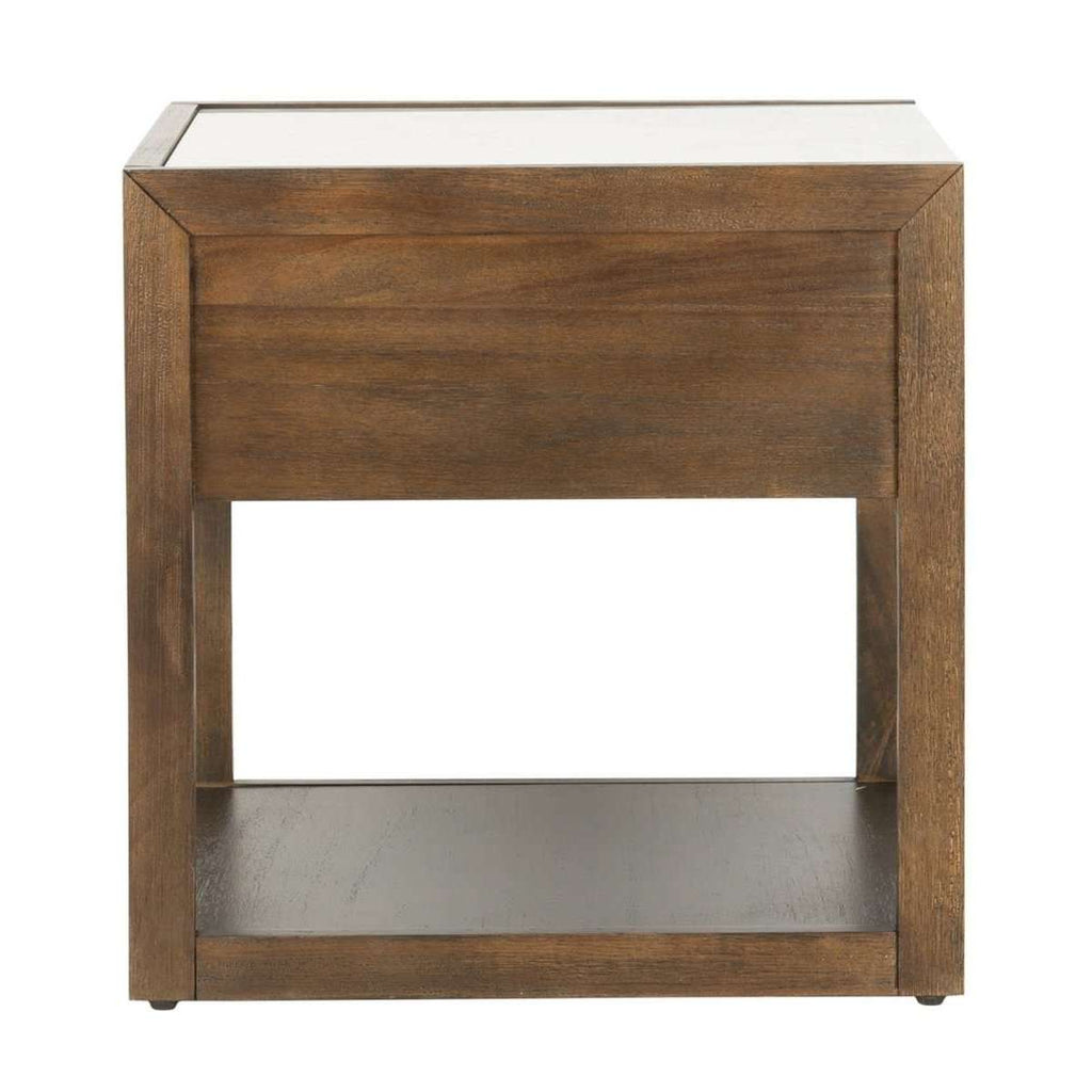 Adeline 1 Drawer Nightstand in Dark Chocolate Couture