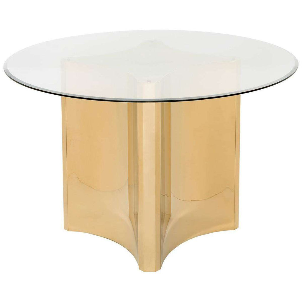 Aiza Gold Brushed Dining Table