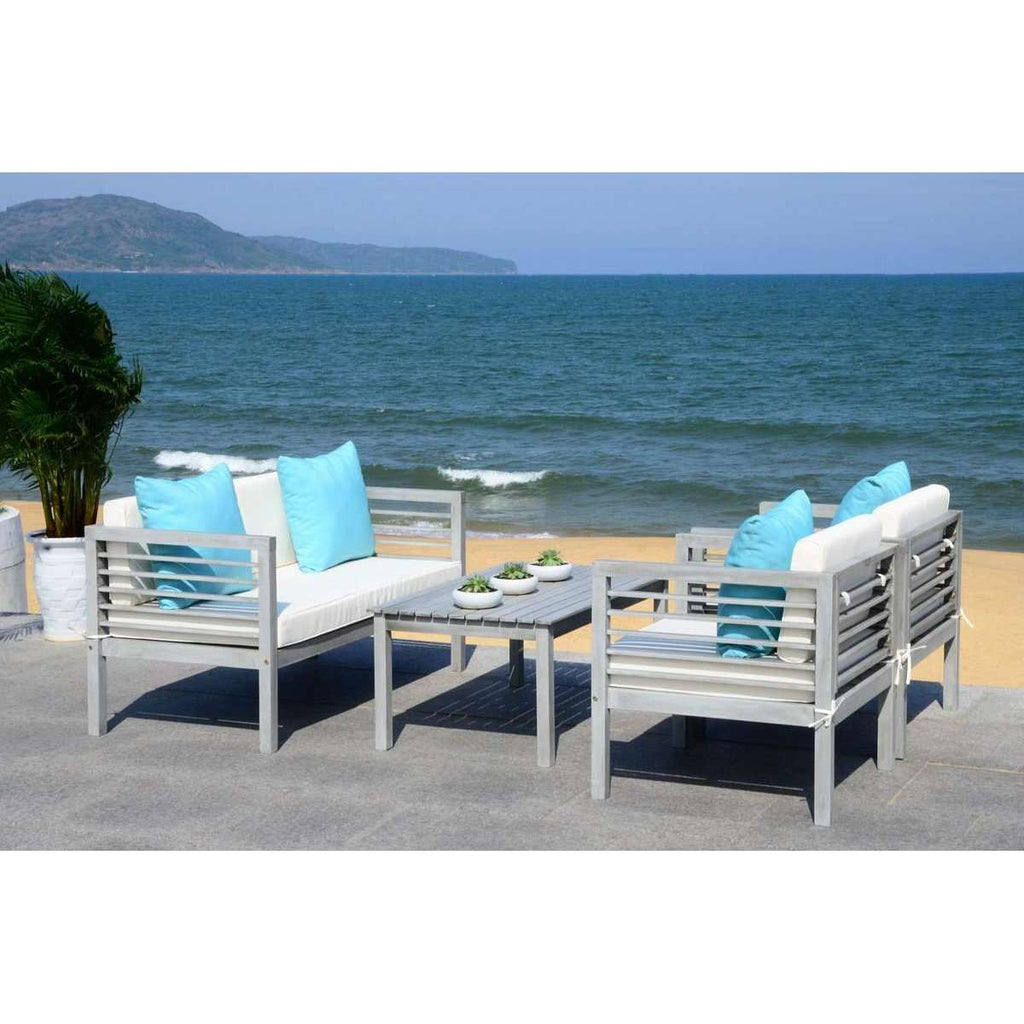 Alda 4 Piece Outdoor Set With Accent Pillows
