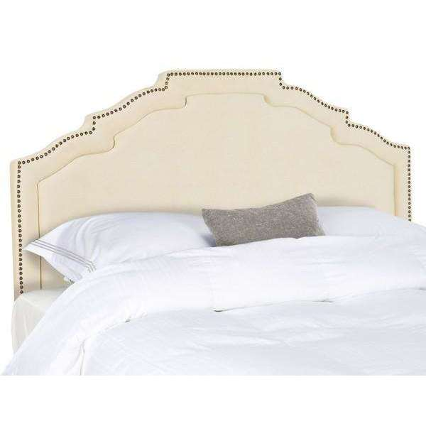 Alexia Headboard Full Buckwheat and Brass Polyester Foam Iron Stainless Steel