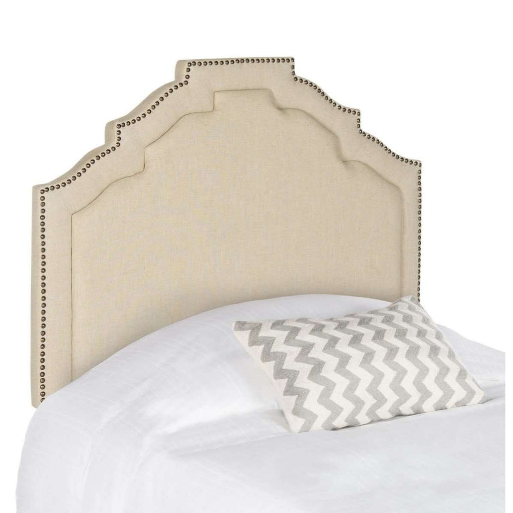 Alexia Hemp Headboard Brass Nail Heads