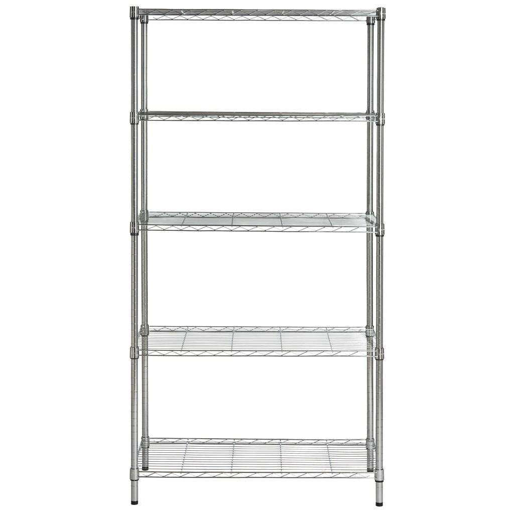 Alpha 5 Tier Chrome Wire Shelving (35 In W X 18 In D X 71 In H)