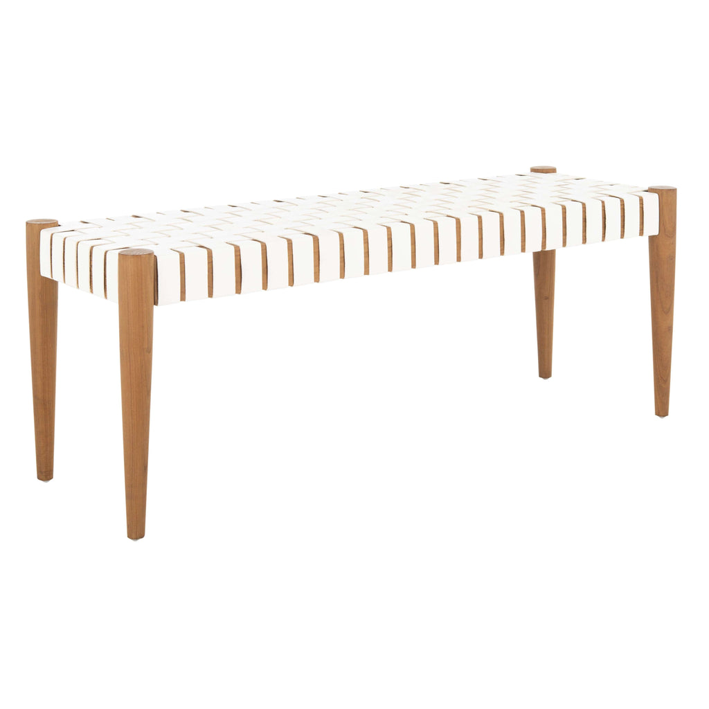 Amalia Bench in White and Oak