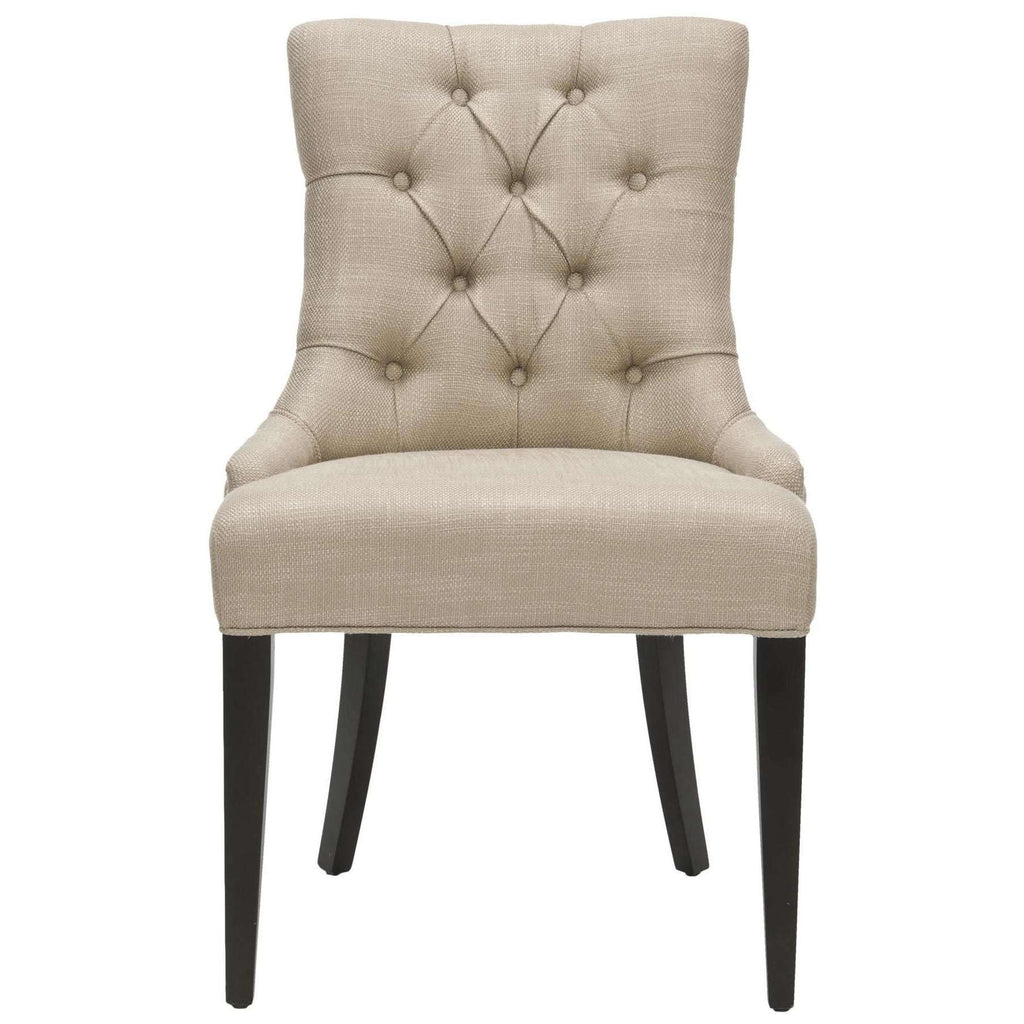 Amanda 19''H Tufted Chair Nickel Nail Heads