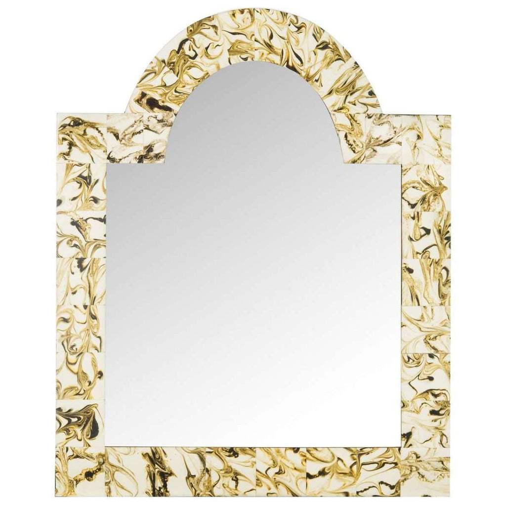 Antibes Mirror Arched 17 x 20 Multi Resin Glass Wood