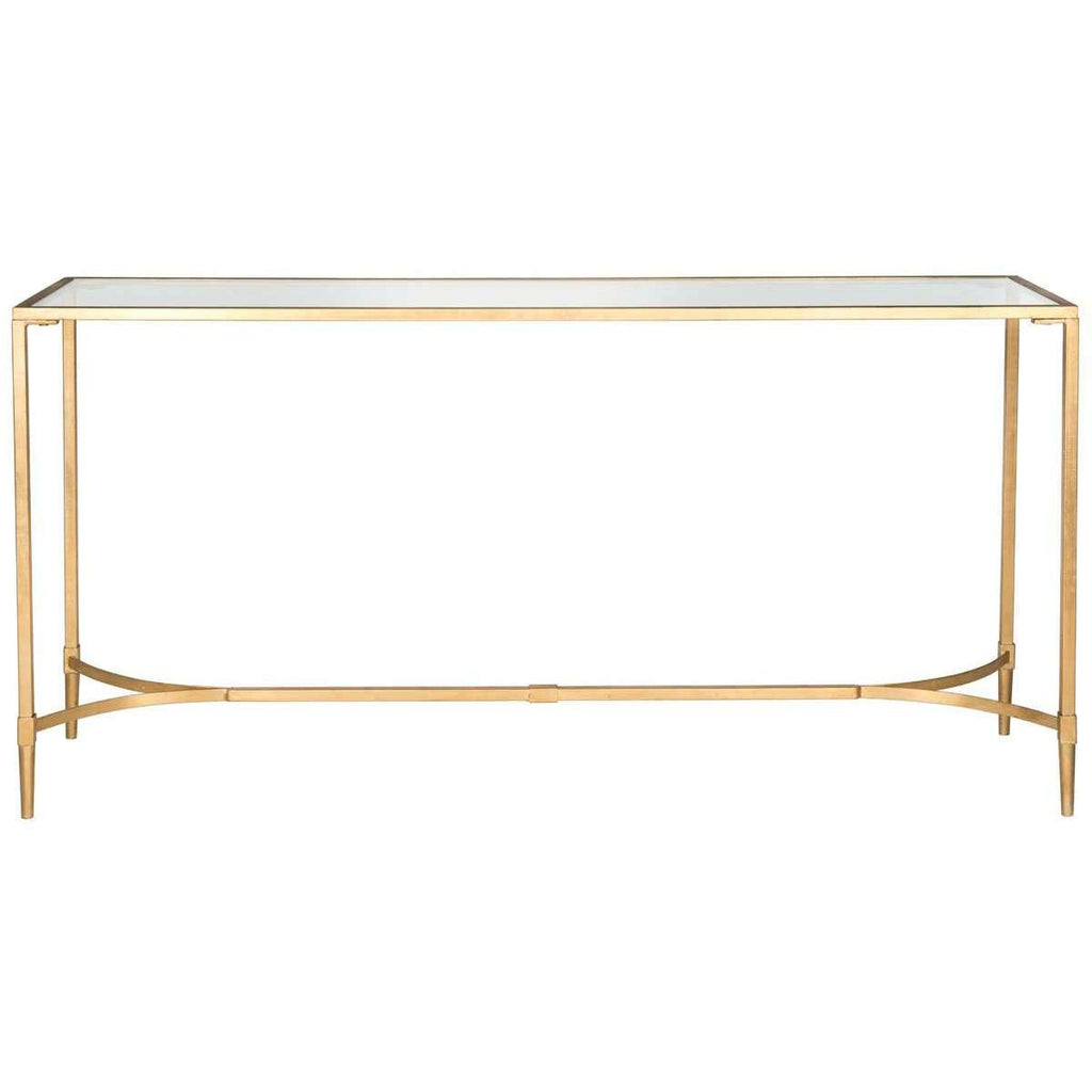 Antwan Console Gold Metal Lacquer Coating Iron