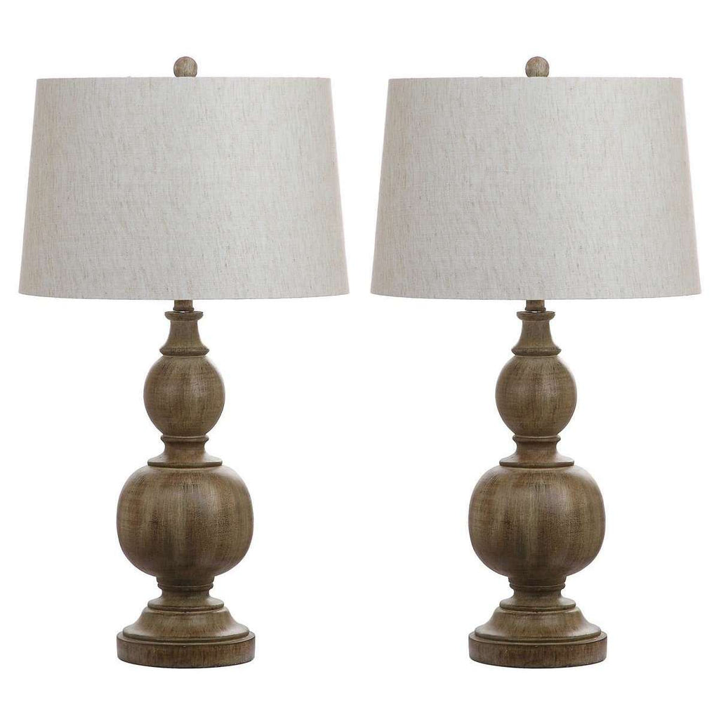 "Araceli Table Lamp 31.5"" Brown Off White Gold Cotton Resin - Set of 2"