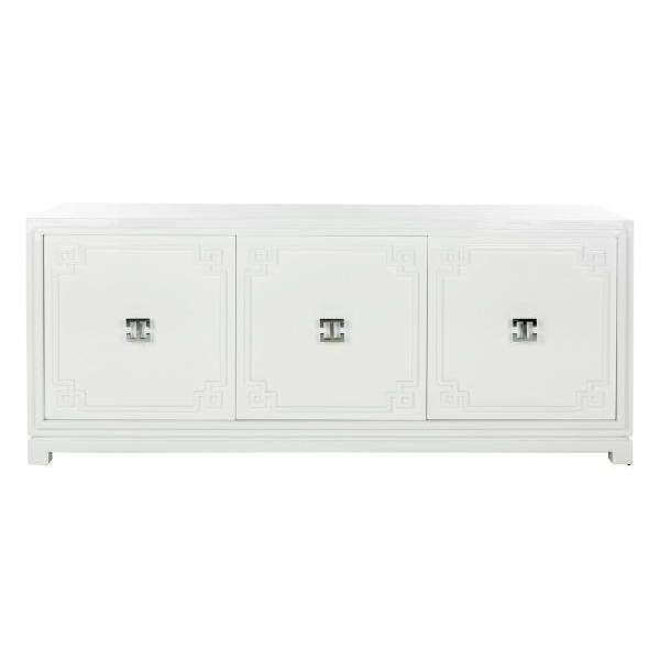 Arcelia Sideboard 3 Door Lacquer White MDF Couture