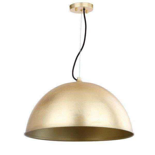 "Archer Pendant Dome Adjustable 21"" Gold Iron"