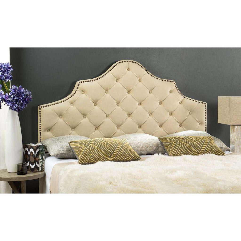 Arebelle Tufted Headboard with Silver Nail Head