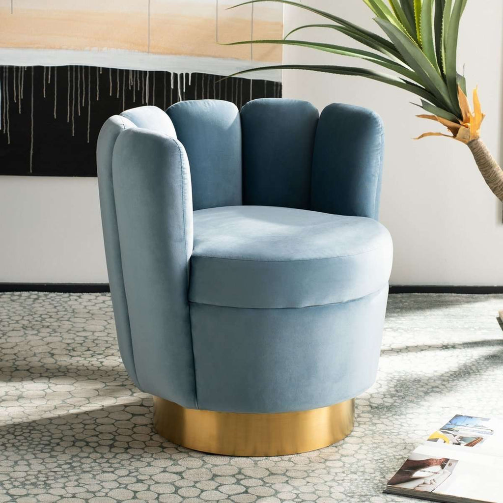 Arrow Channel Tufted Chair