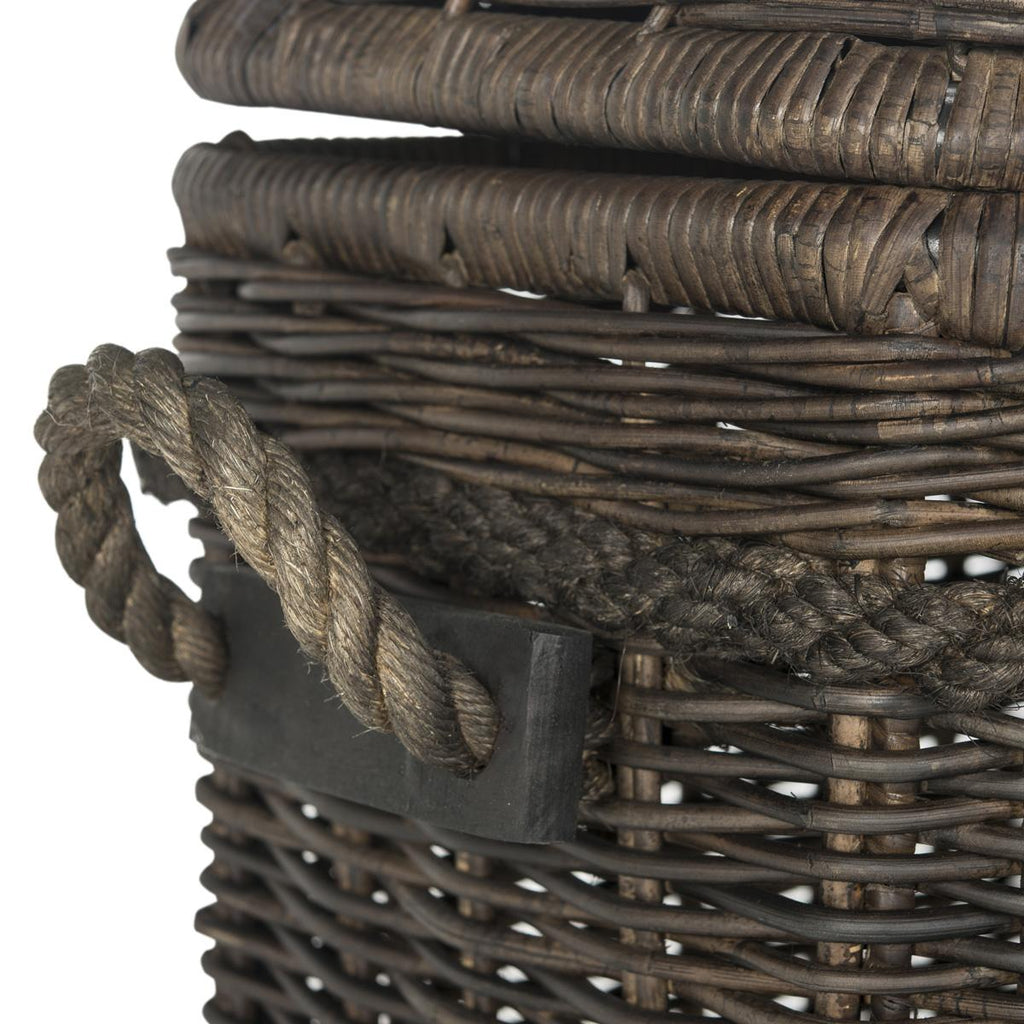 Sidonie Wicker Storage Hamper English Elm
