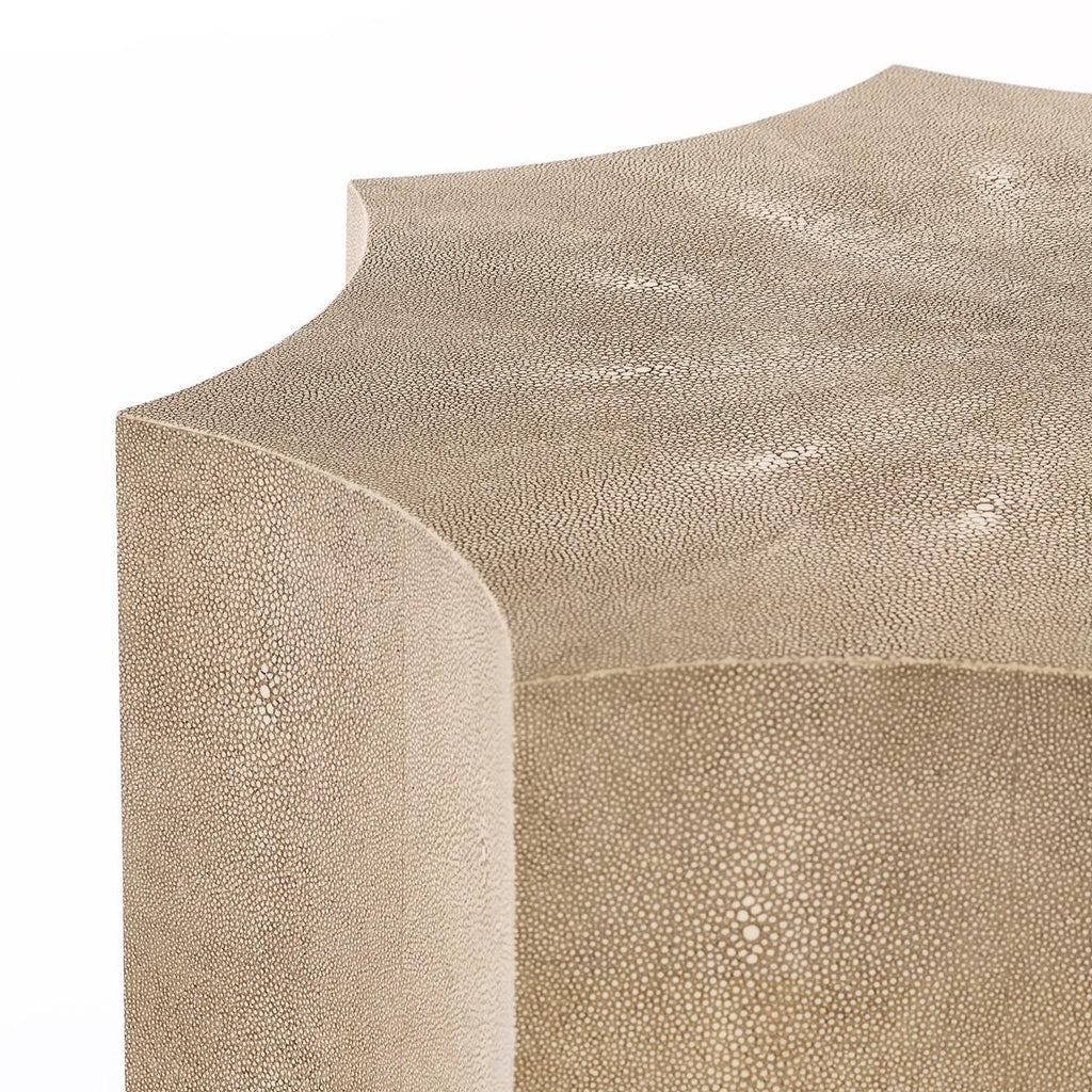 Safavieh Napa End Table Faux Shagreen Iron MDF Resin Couture SFV1508B 889048169722