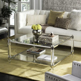 Safavieh Isabelle Coffee Table Acrylic Chrome Glass Couture SFV2502B 889048243477
