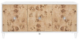 Safavieh Lazaro Sideboard Burlwood White Nickle Metal Wood MDF Couture SFV3527A 889048289574