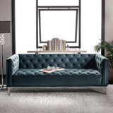 Safavieh Florentino Tufted Sofa Dusty Blue 100% Polyester SFV4506C 889048308947
