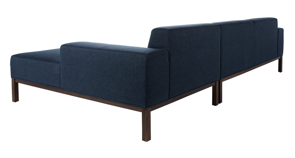 Safavieh Dove Mid-Century Sectional in Dark Blue SFV4511B-2BX 889048682405