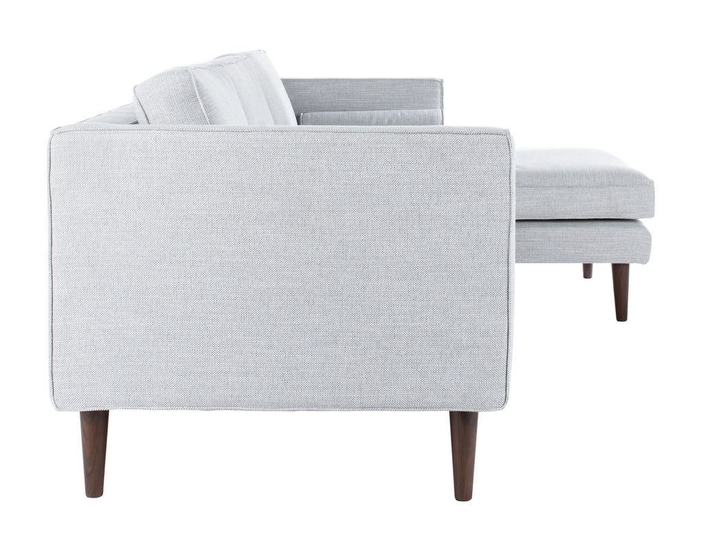 Safavieh Dulce Mid-Century Chaise Sofa in Light Grey Couture SFV4513A