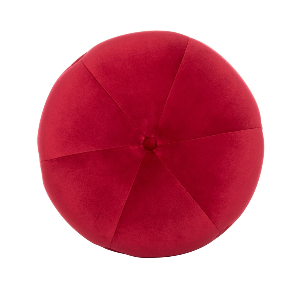 Safavieh Carnation Round Tufted Ottoman in Ruby Couture SFV4719D