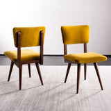 Safavieh - Set of 2 - Aurora Dining Chair Gold Couture SFV7503B-SET2 889048633568