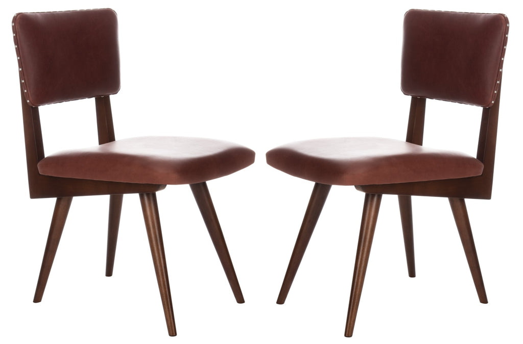 Safavieh - Set of 2 - Aurora Dining Chair Brown Couture SFV7503D-SET2 889048633582