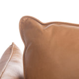 Safavieh Bubba Italian Leather Sofa in Tan Couture SFV7507A