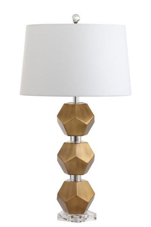 Safavieh Cashel Table Lamp Gold Off White Cotton Metal TBL4054A 889048407169