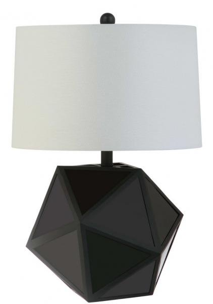 Safavieh - Set of 2 - Brycin Table Lamp Black Off White Silver Cotton Metal TBL4059A-SET2 889048407756
