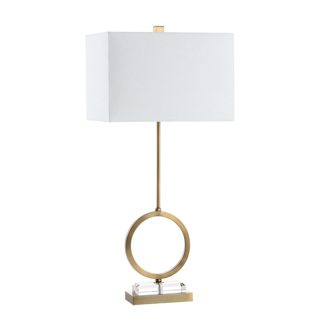 Safavieh - Set of 2 - Kaden Table Lamp in Clear Brass Gold TBL4193A-SET2