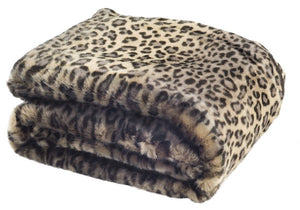 Safavieh Faux Black Leopard Throw Leopard 100% Acrylic THR722A-6072 889048547353