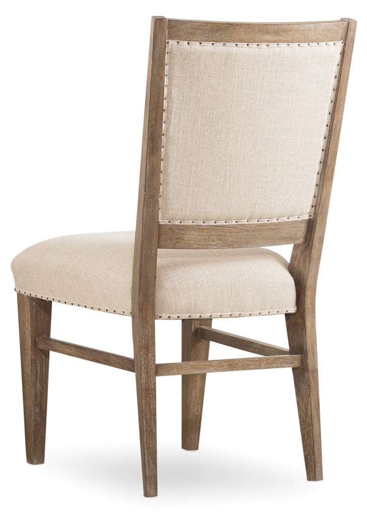 Hooker Furniture - Set of 2 - Studio 7H Casual Stol Upholstered Side Chair in Acacia Solids and Acacia Veneers 5382-75410
