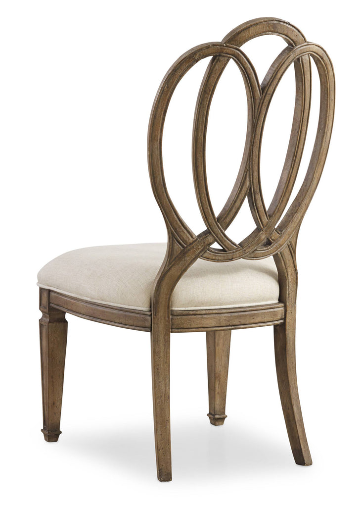 Hooker Furniture - Set of 2 - Solana Traditional-Formal Wood Back Side Chair in Poplar Solids and Oak Veneers with Fabric 5291-75410