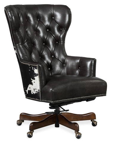 Katherine Executive Swivel Tilt Chair with Black & White HOH