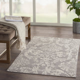 Jubilant JUB09 Power-loomed 100% Polypropylene Grey 3' x 5' Rectangle Rug
