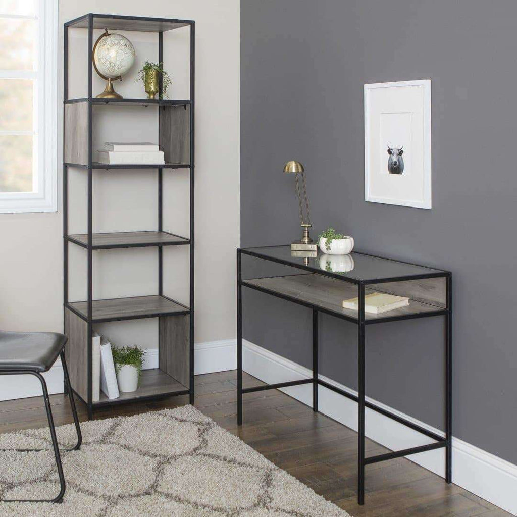 2-Piece Industrial Home Office Desk Set