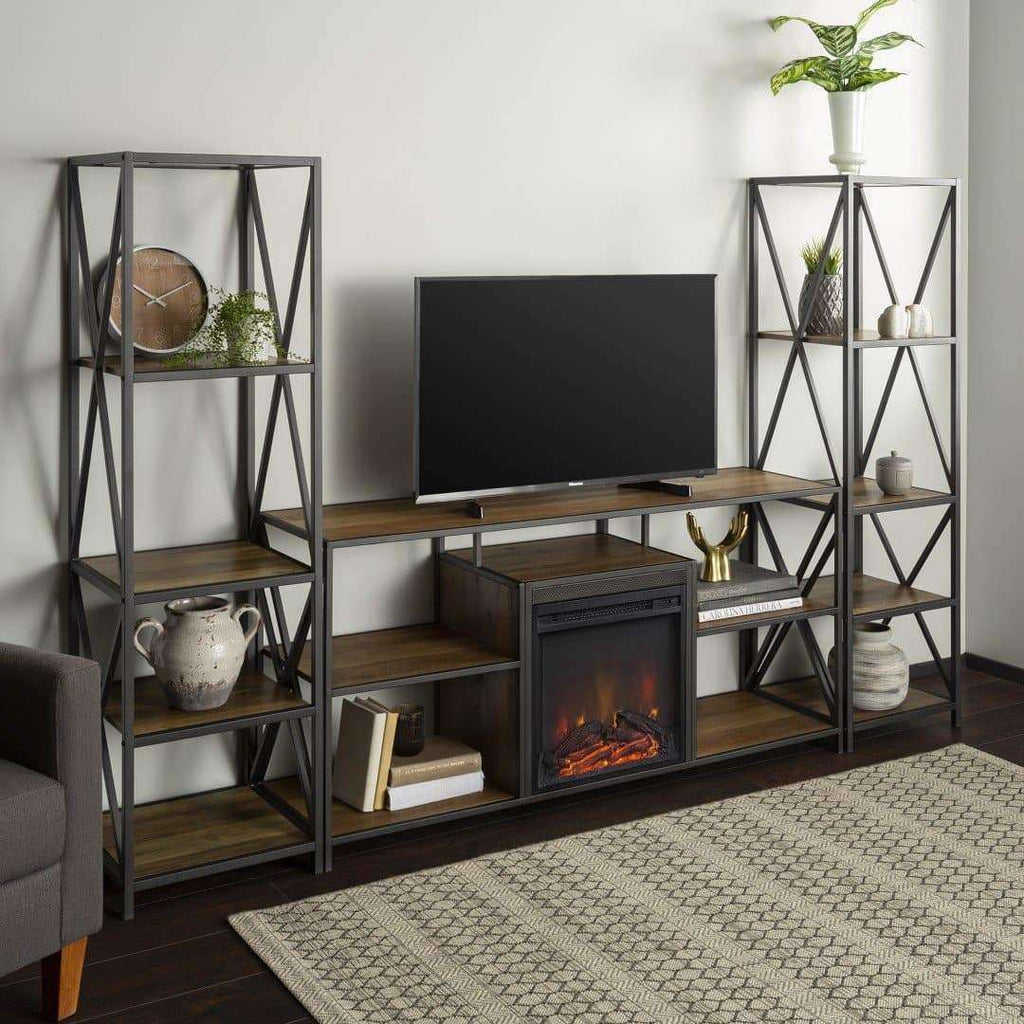 3-Piece Fireplace TV Stand Set