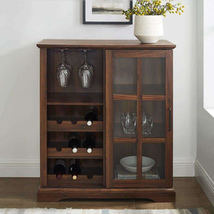 "36"" Sliding Glass Door Bar Cabinet"
