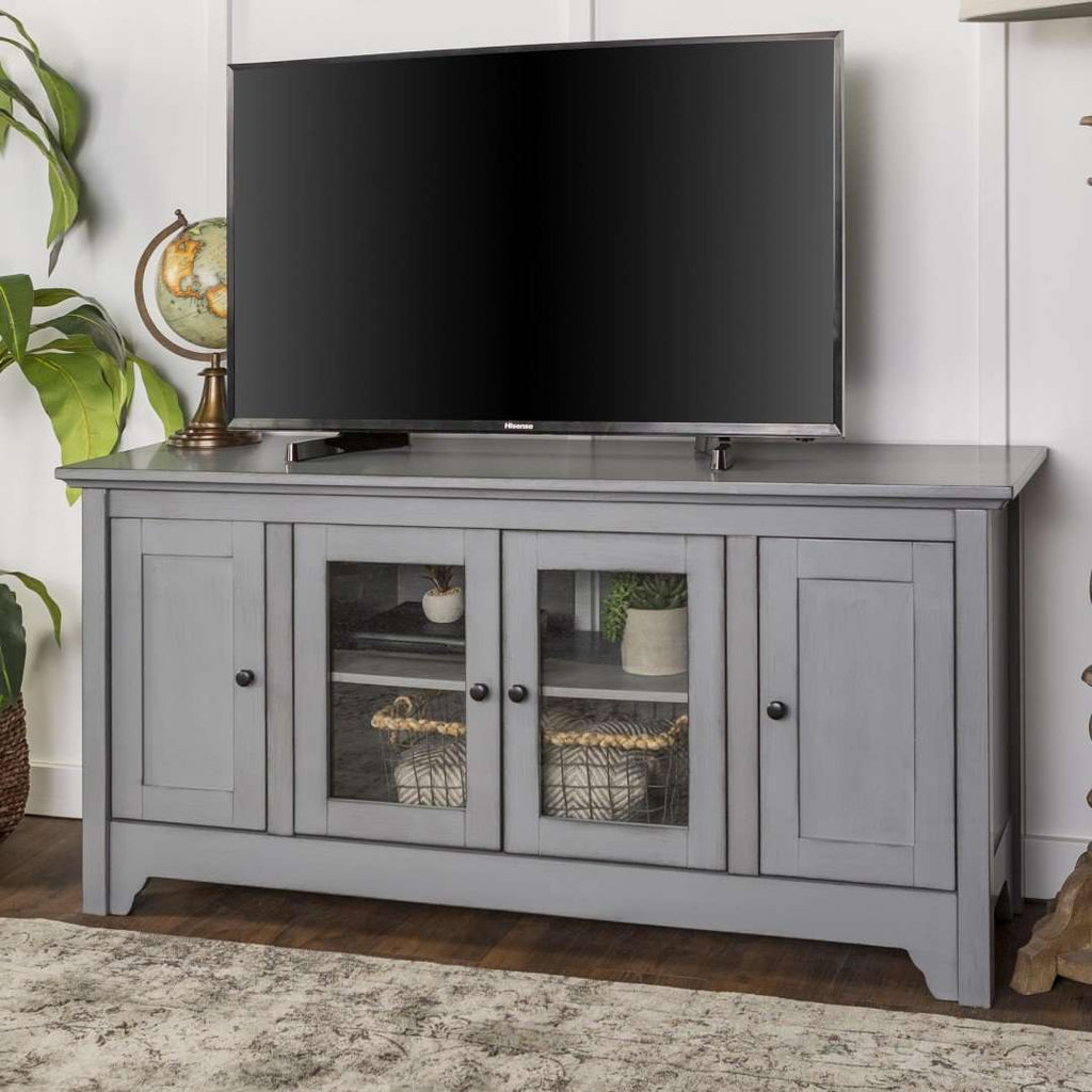 "52"" Transitional Glass TV Stand"