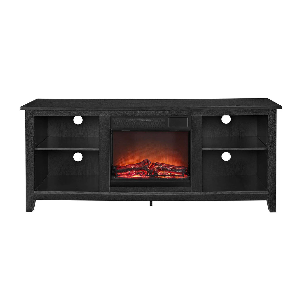 "58"" Rustic Farmhouse Fireplace TV Stand"