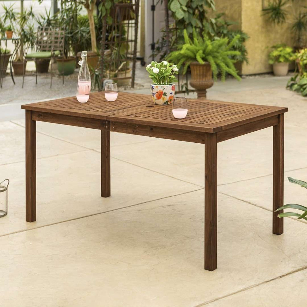 "60"" Patio Modern Dining Table"