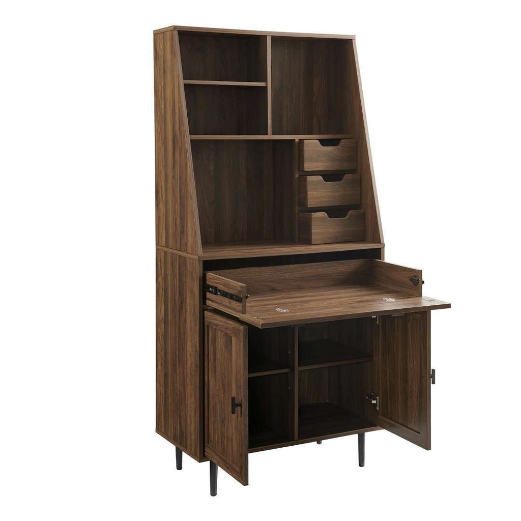 "64"" Storage Desk & Hutch with Keyboard Drawer"