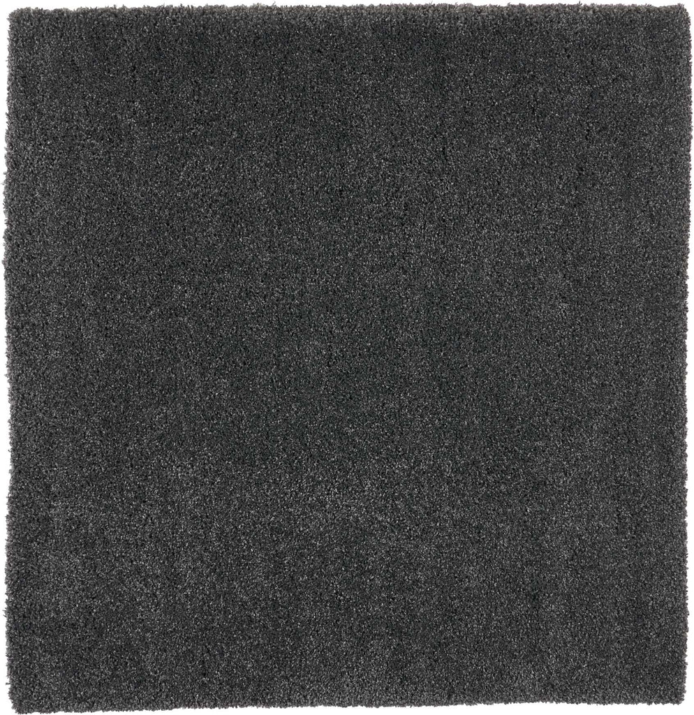 "Malibu Shag MSG01 Power Loomed 100% Polypropylene Dark Grey 7'10"" x Square Square Rug"