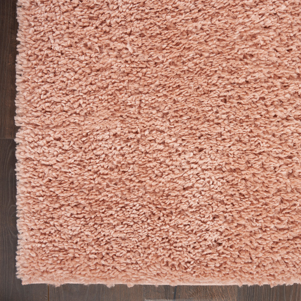 "Malibu Shag MSG01 Power-loomed 100% Polypropylene Blush 2'2"" x 9'10"" Runner Rug"