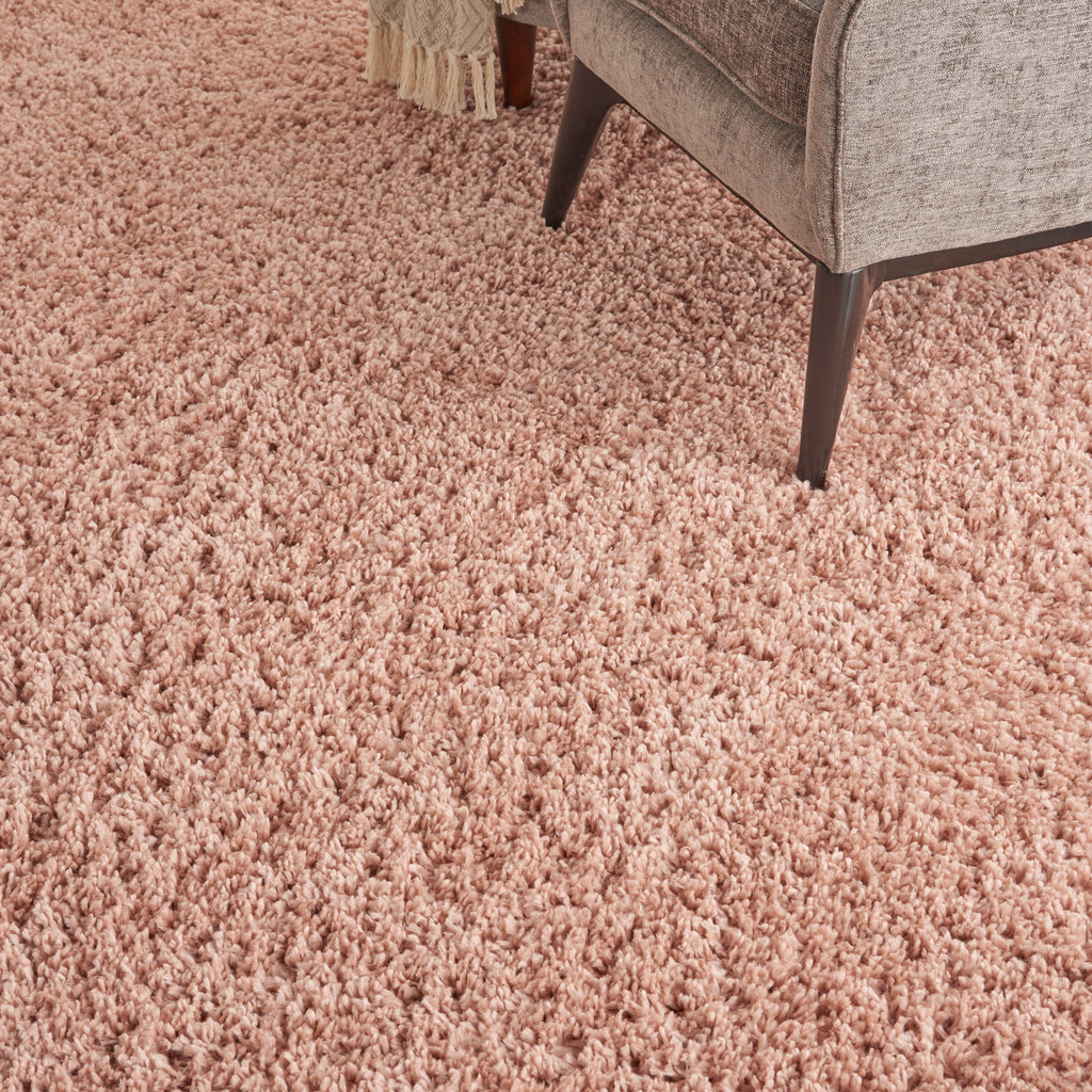 "Malibu Shag MSG01 Power-loomed 100% Polypropylene Blush 9'10"" x 13'2"" Rectangle Rug"