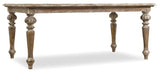 Hooker Furniture Chatelet Traditional-Formal Rectangle Leg Dining Table with Two 18'' Leaves in Poplar and Hardwood Solids with Pecan, Walnut and Maple Veneers with a Solid Wood Edge 5300-75200